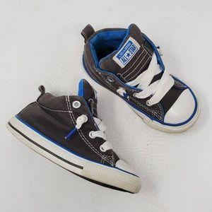 Baby Converse High Top Sneakers sz 8 Gray